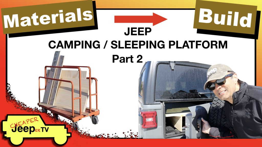 Constructing Jeep Camping Sleeping Platform