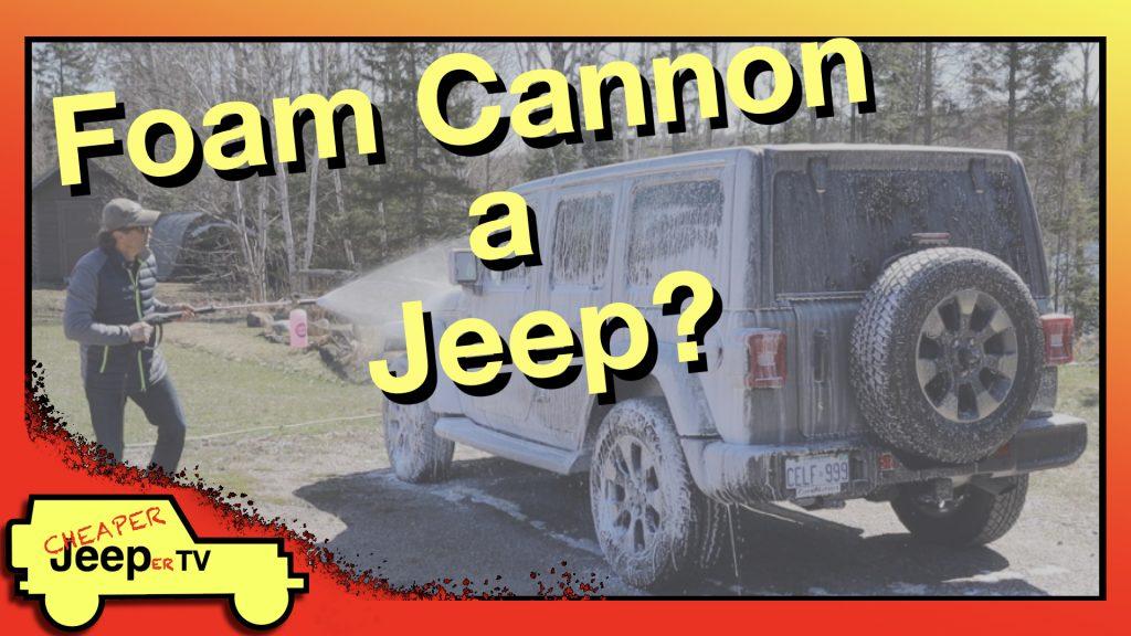 Foam Cannon Jeep Wash