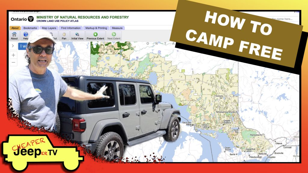 How to find Crown Land on Which to Camp for Free
